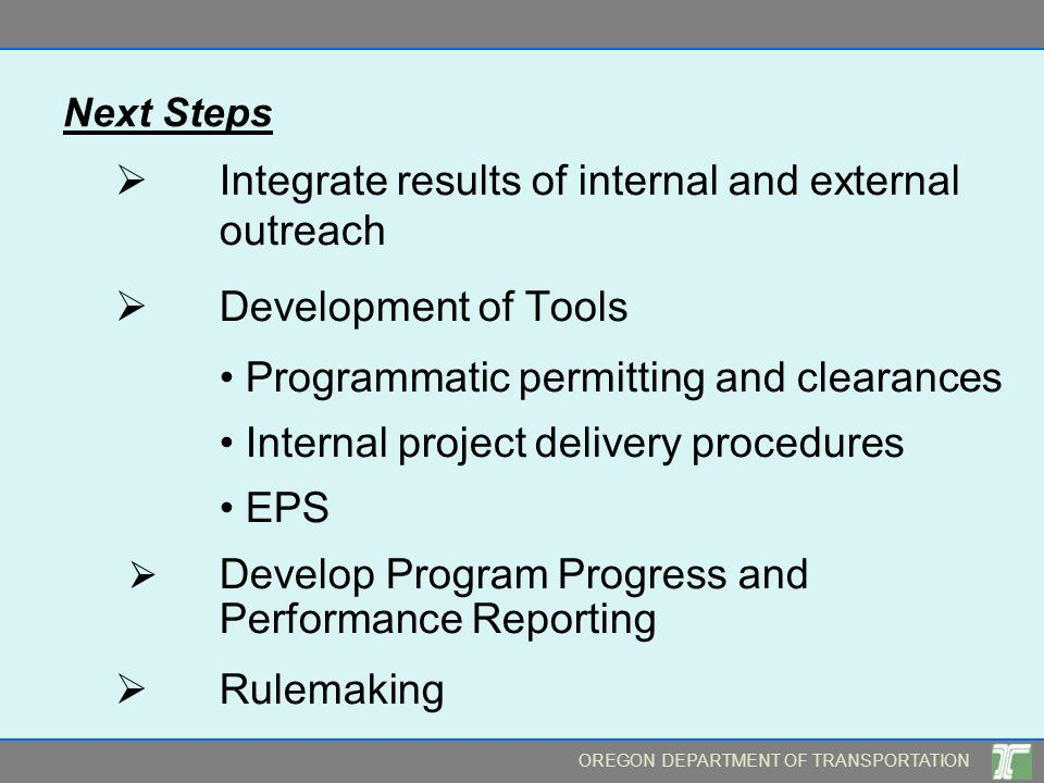  Integrate results of internal and external outreach