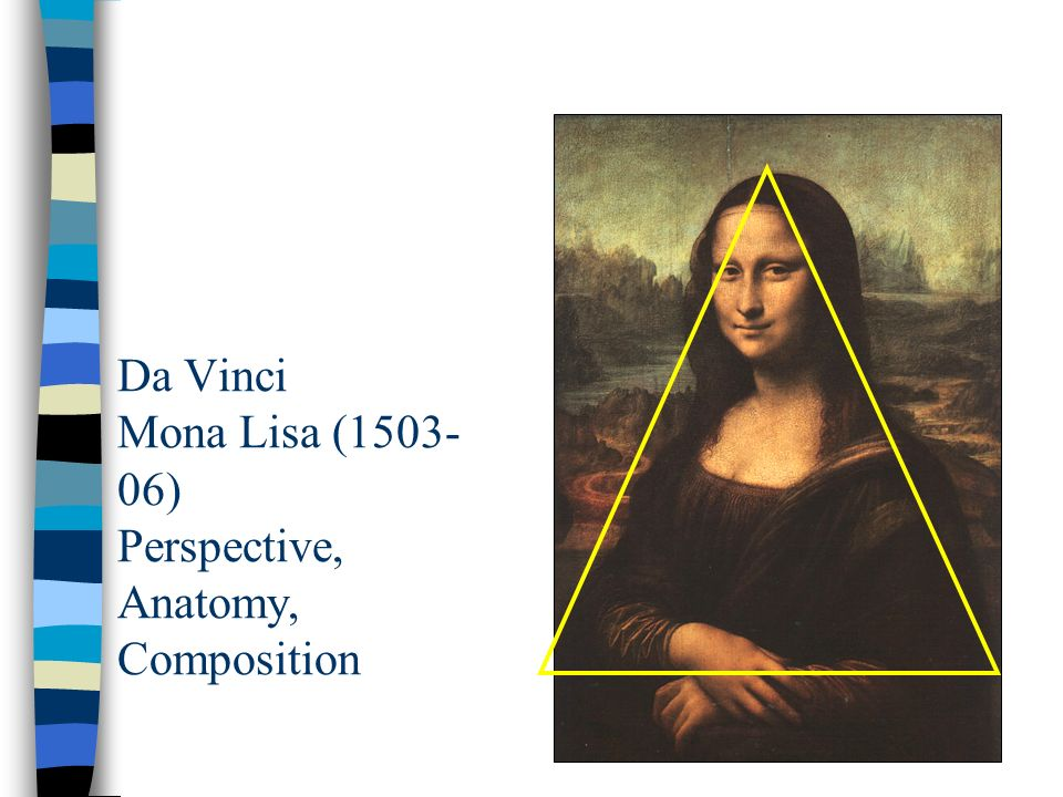 Da Vinci Mona Lisa (1503-06) Perspective, Anatomy, Composition