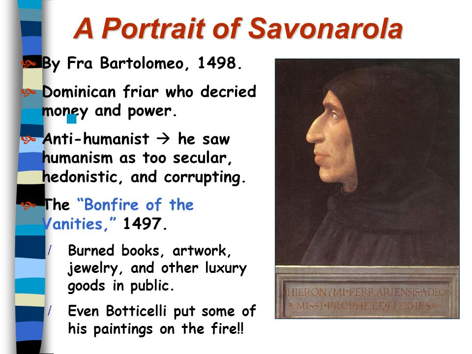 A Portrait of Savonarola