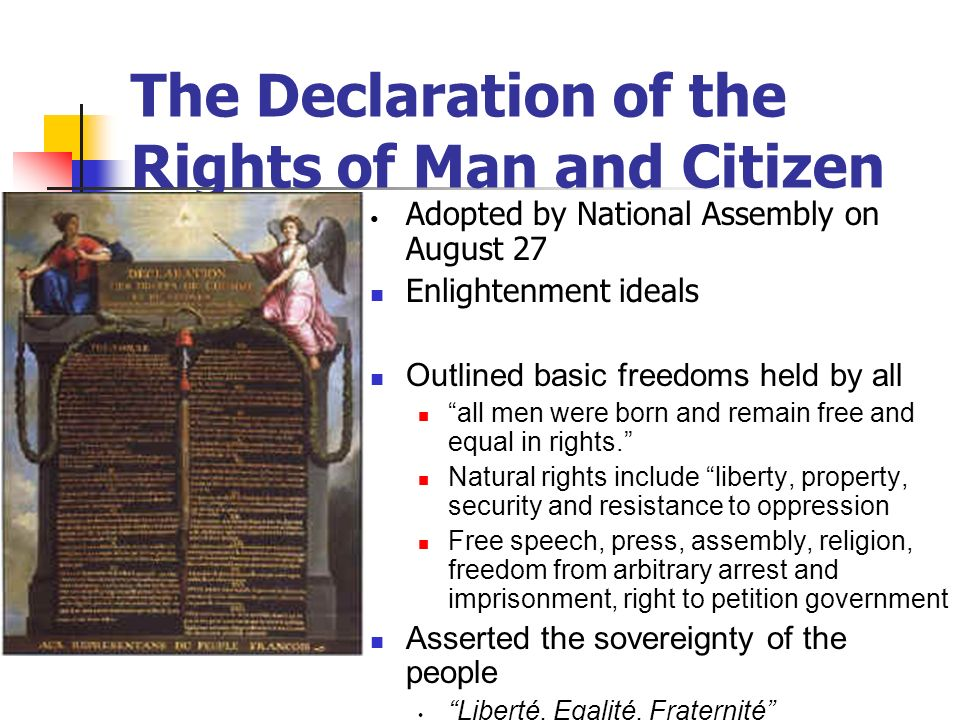 The Declaration of the Rights of Man and Citizen