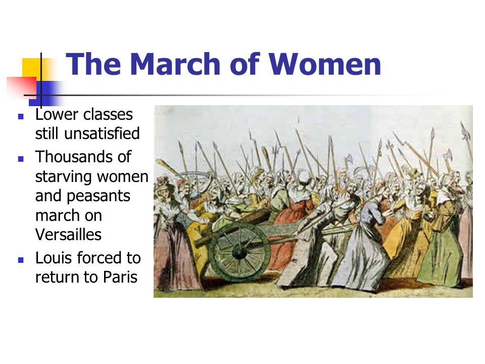 The March of Women Lower classes still unsatisfied