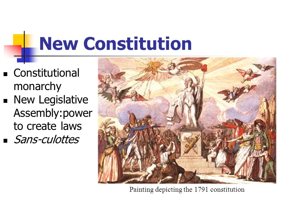 Painting depicting the 1791 constitution