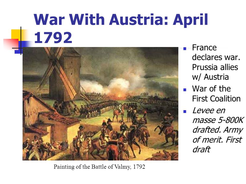 War With Austria: April 1792