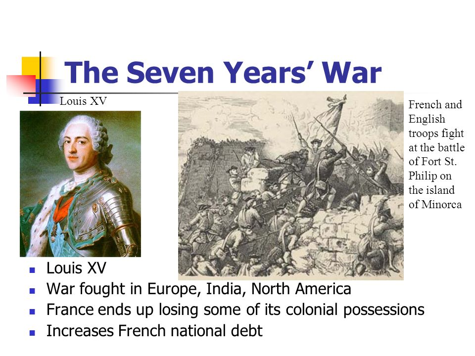 The Seven Years' War Louis XV