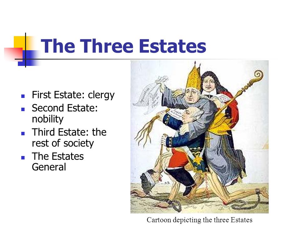 Cartoon depicting the three Estates