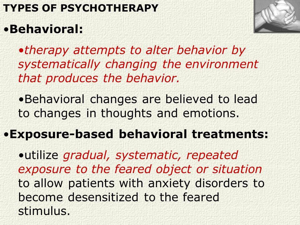 Exposure-based behavioral treatments: