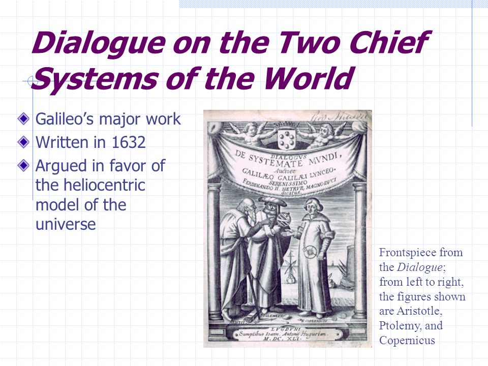 Dialogue on the Two Chief Systems of the World