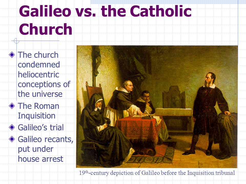 Galileo vs. the Catholic Church