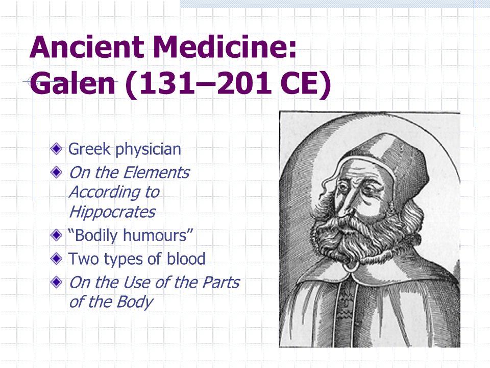 Ancient Medicine: Galen (131–201 CE)