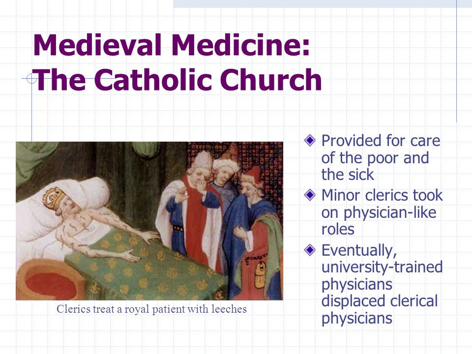 Medieval Medicine: The Catholic Church