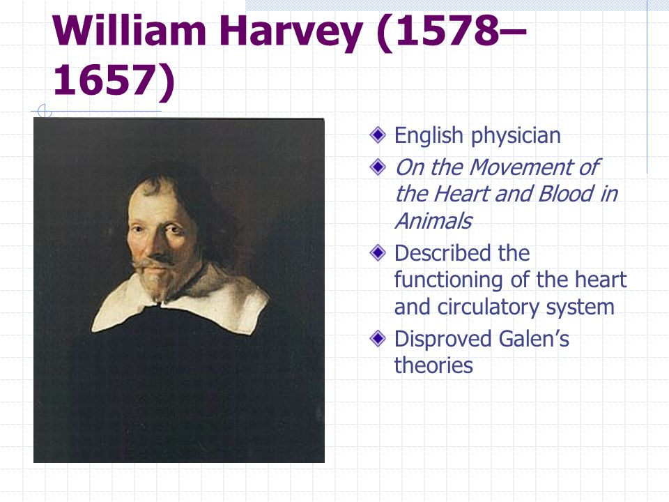 William Harvey (1578–1657) English physician