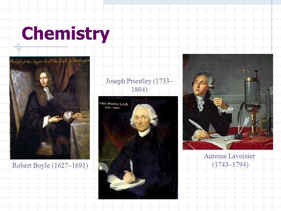 Chemistry Joseph Priestley (1733–1804) Antoine Lavoisier (1743–1794)