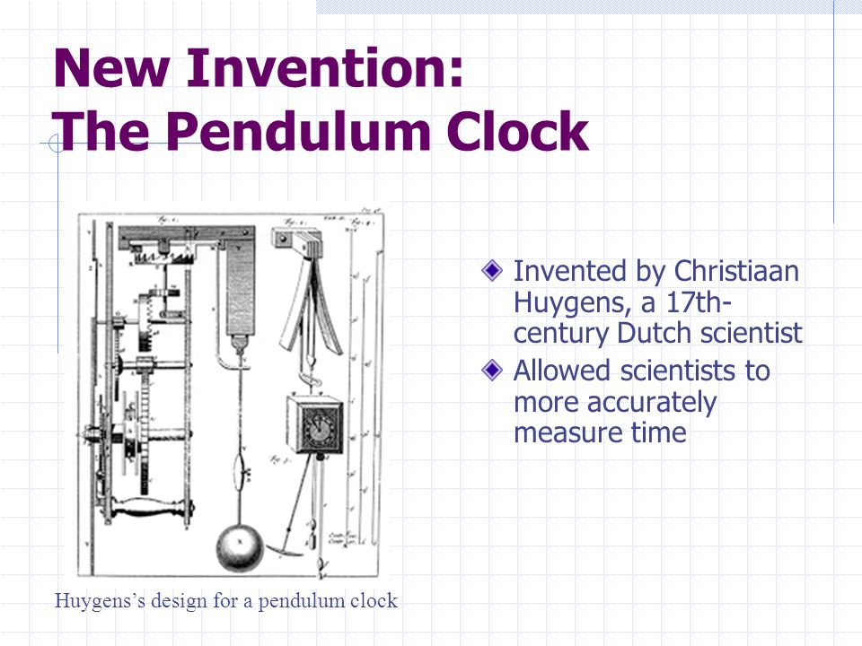 New Invention: The Pendulum Clock