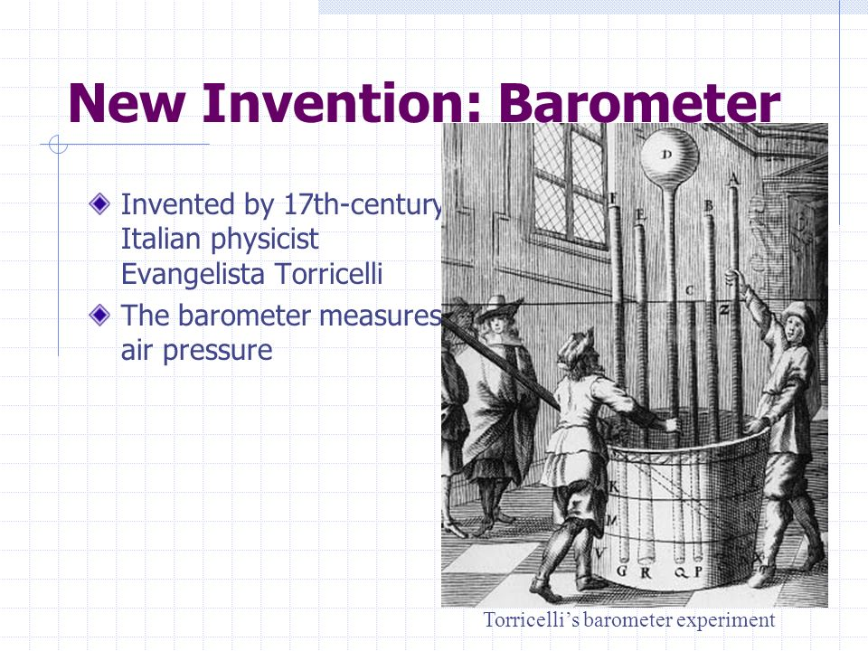 New Invention: Barometer