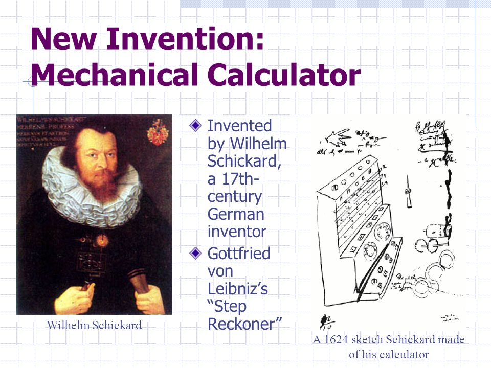 New Invention: Mechanical Calculator