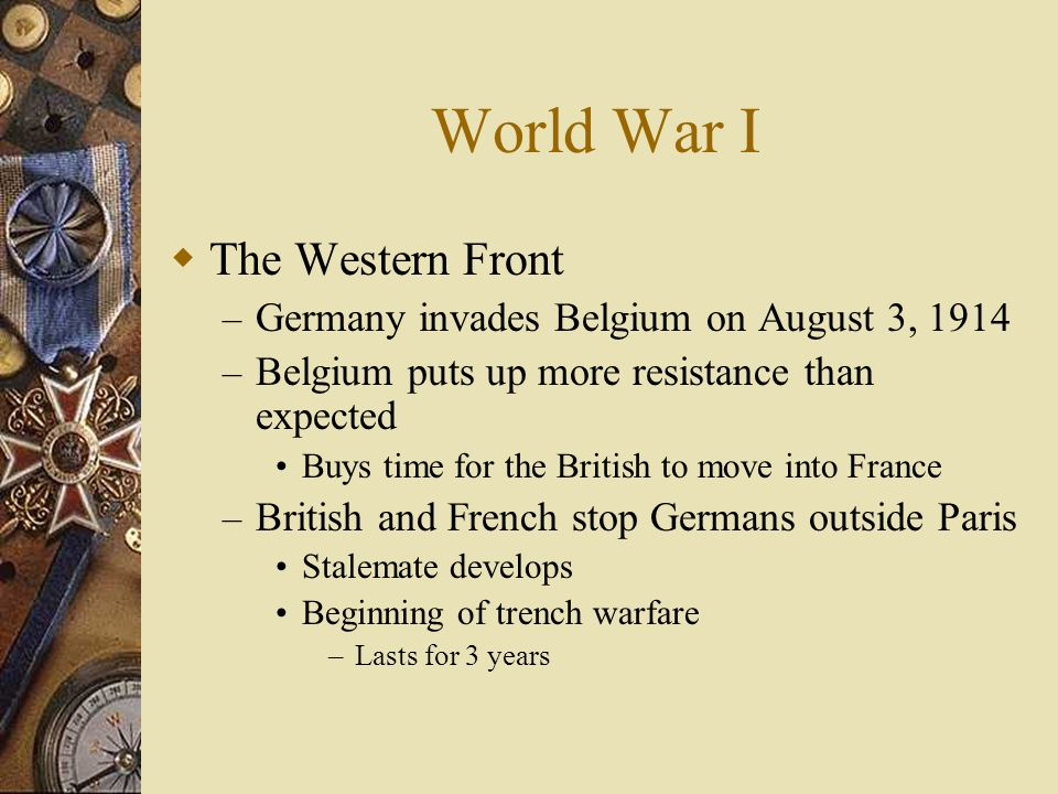 World War I The Western Front