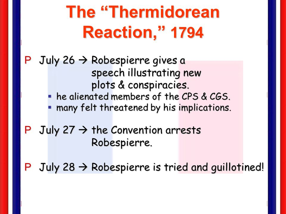 The Thermidorean Reaction, 1794