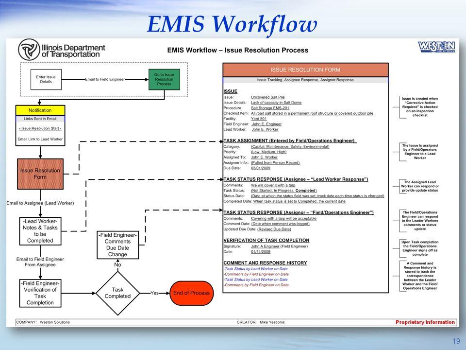 EMIS Workflow 19 19