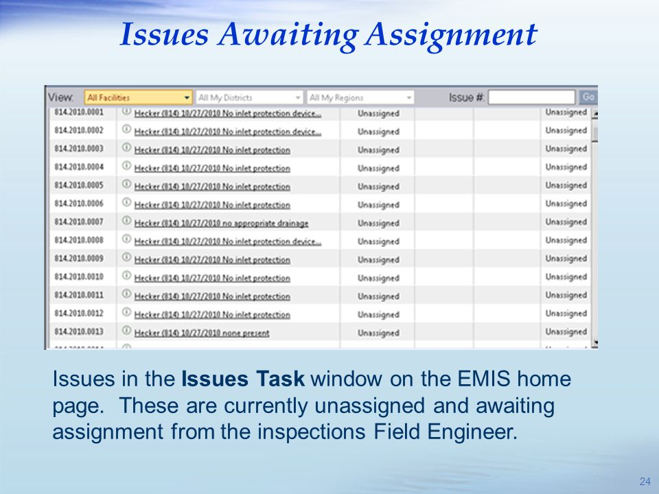 Issues Awaiting Assignment