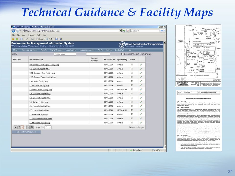 Technical Guidance & Facility Maps