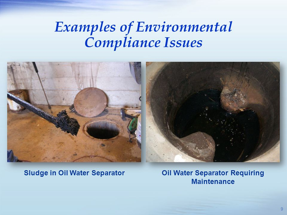 Examples of Environmental Compliance Issues