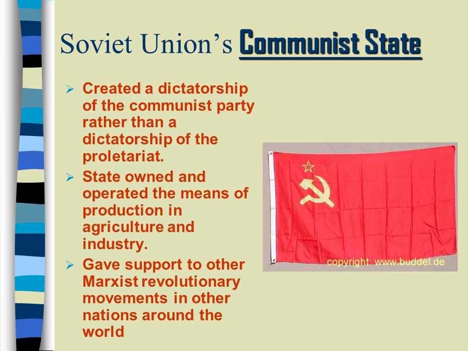 Soviet Union's Communist State