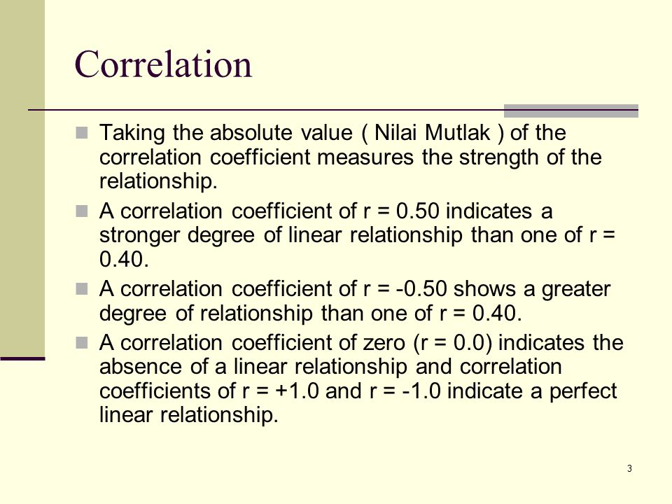 correlation and value relationship
