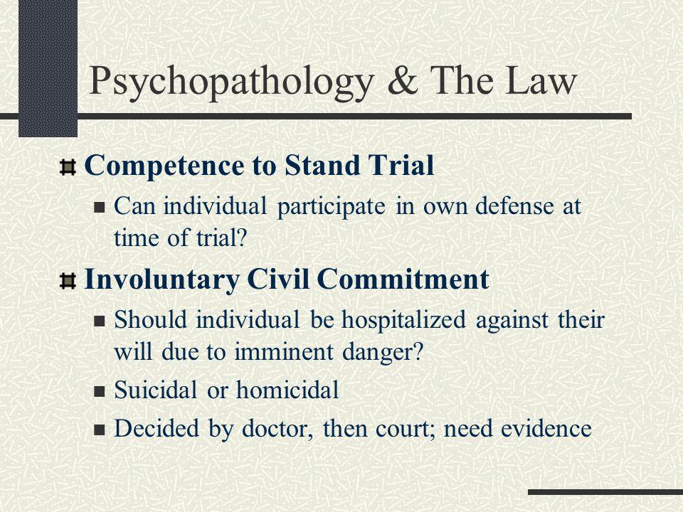 Psychopathology & The Law