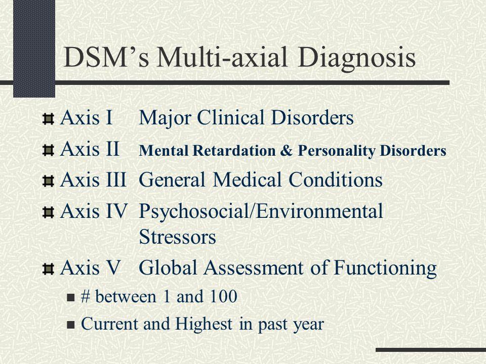 DSM's Multi-axial Diagnosis