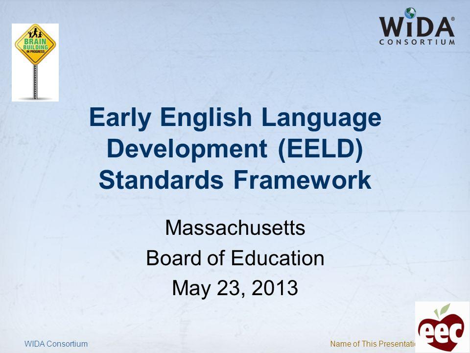 Early English Language Development (EELD) Standards Framework