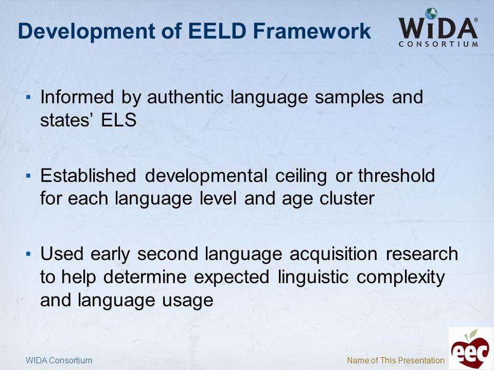 Development of EELD Framework