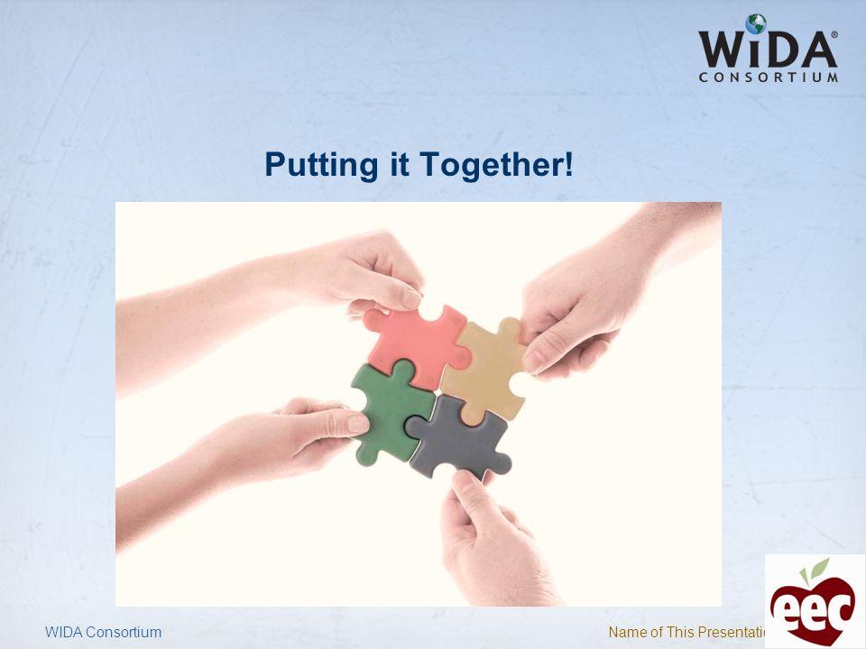 Putting it Together! WIDA Consortium