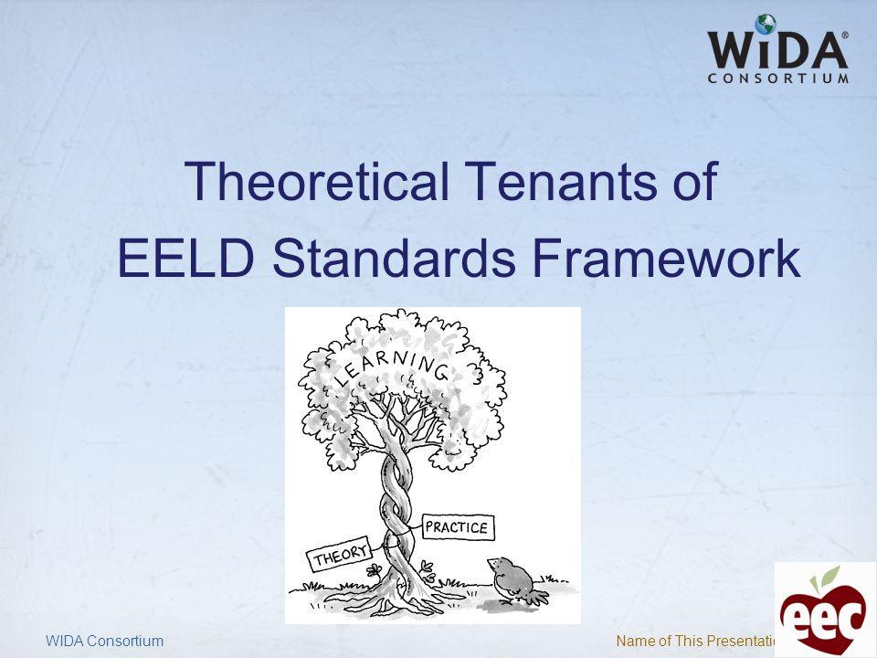 Theoretical Tenants of EELD Standards Framework