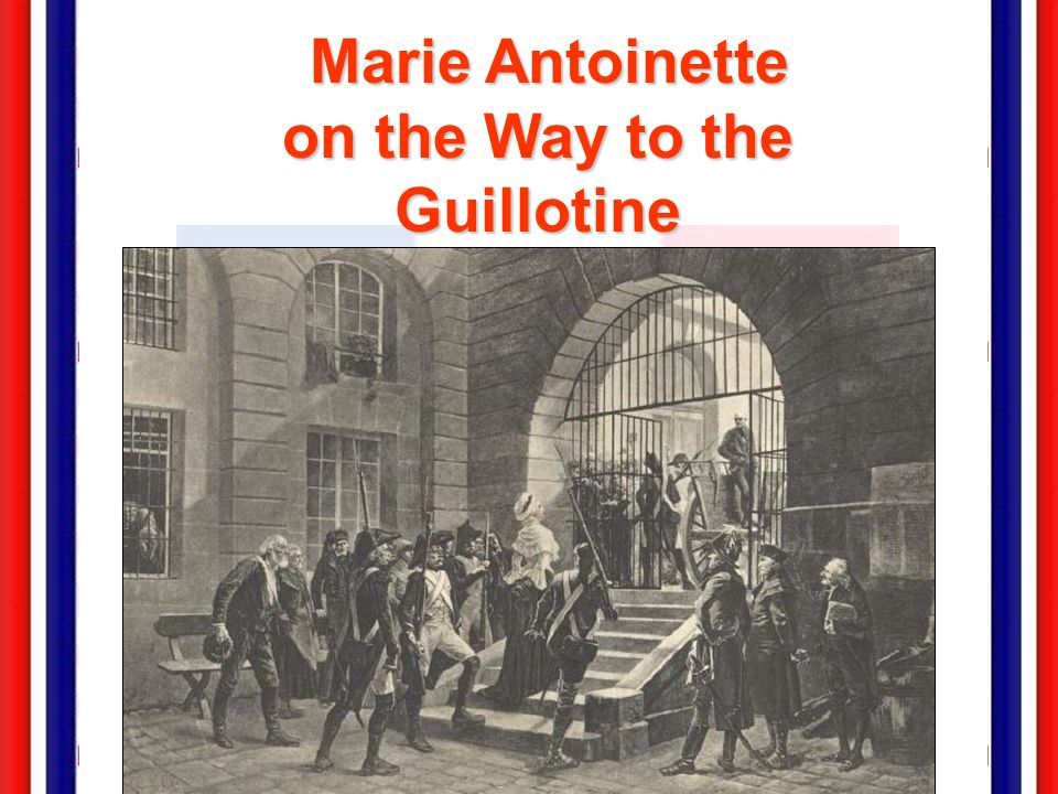 Marie Antoinette on the Way to the Guillotine