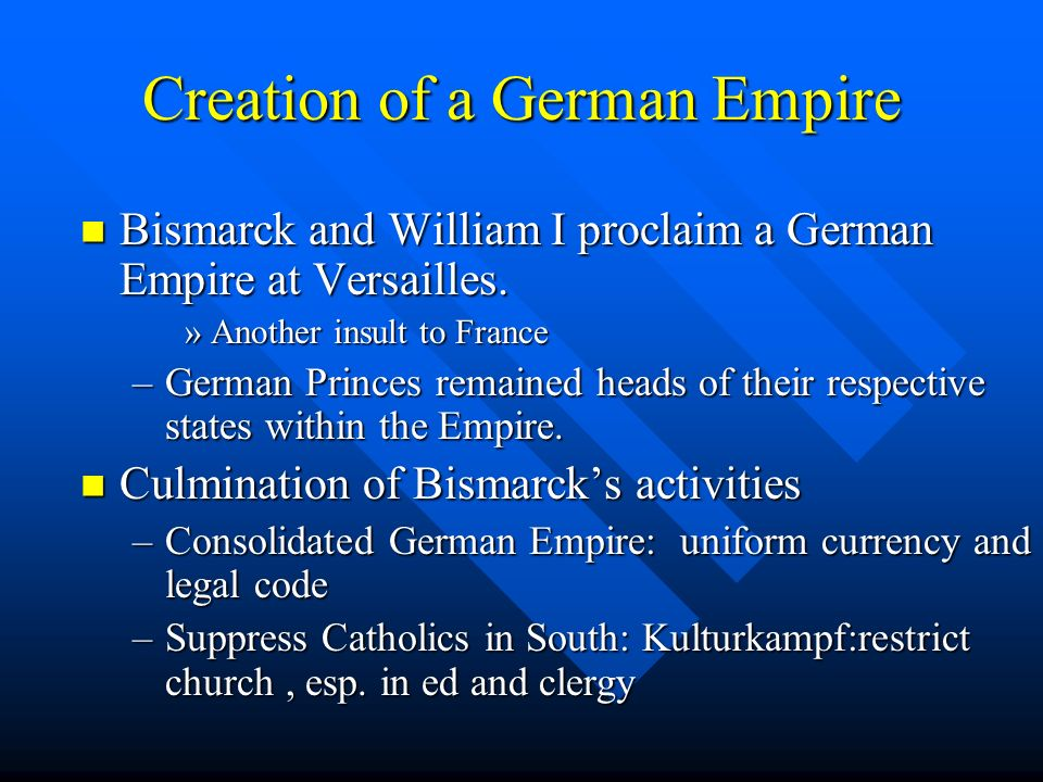 Creation of a German Empire
