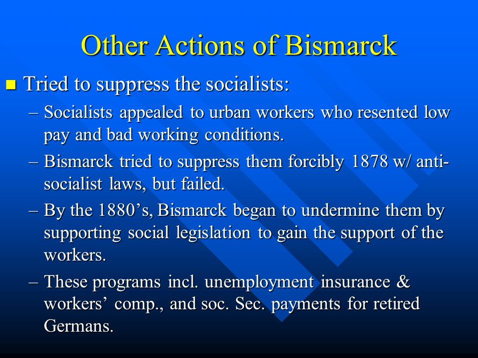 Other Actions of Bismarck