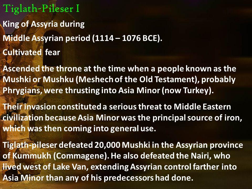 Tiglath-Pileser I King of Assyria during