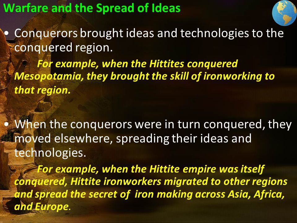 Warfare and the Spread of Ideas
