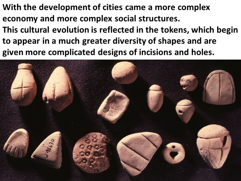 With the development of cities came a more complex economy and more complex social structures.