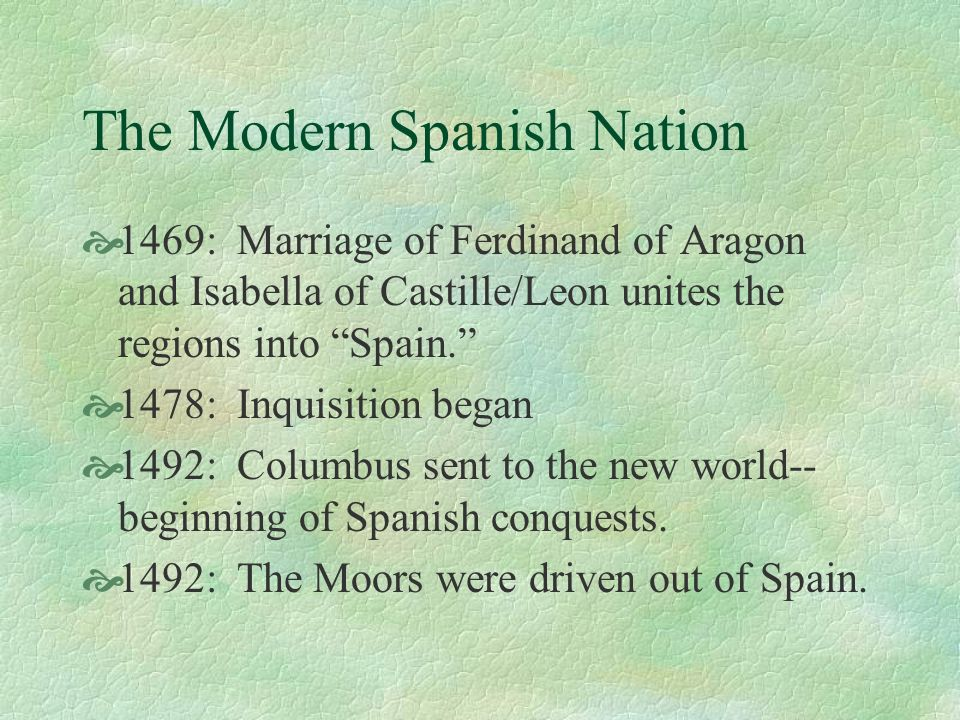 The Modern Spanish Nation