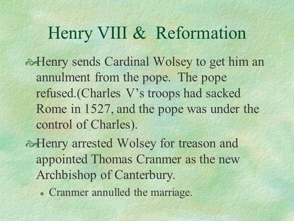 Henry VIII & Reformation