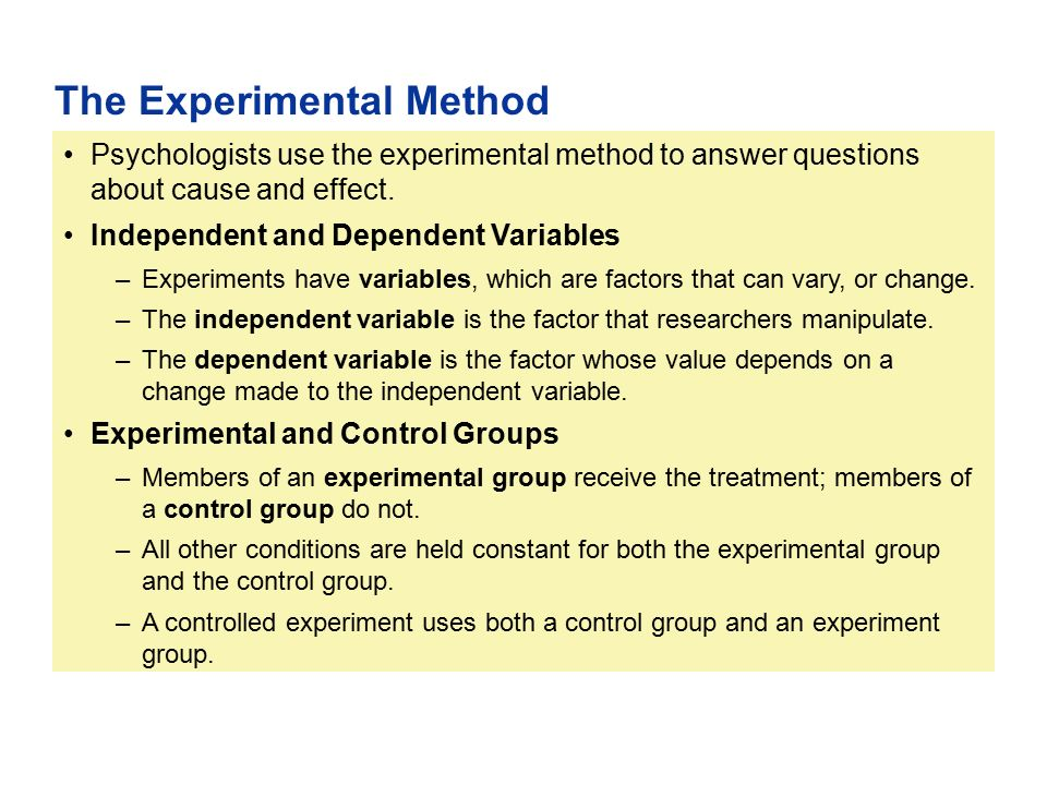 Part Ii Psychological Methods Ppt Download