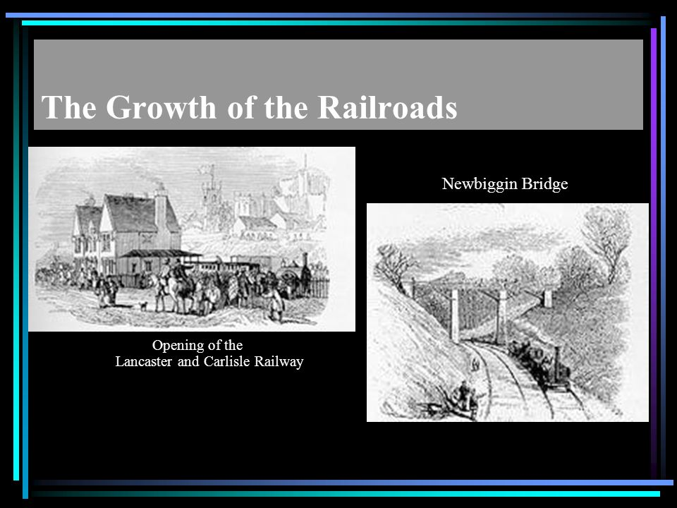 The Growth of the Railroads