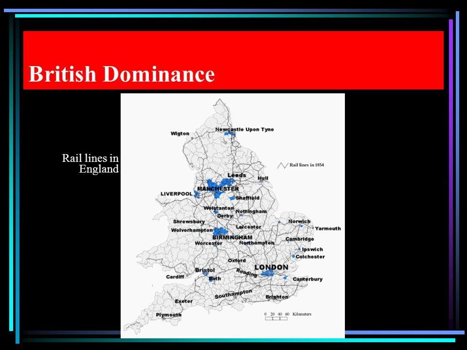 British Dominance Rail lines in England
