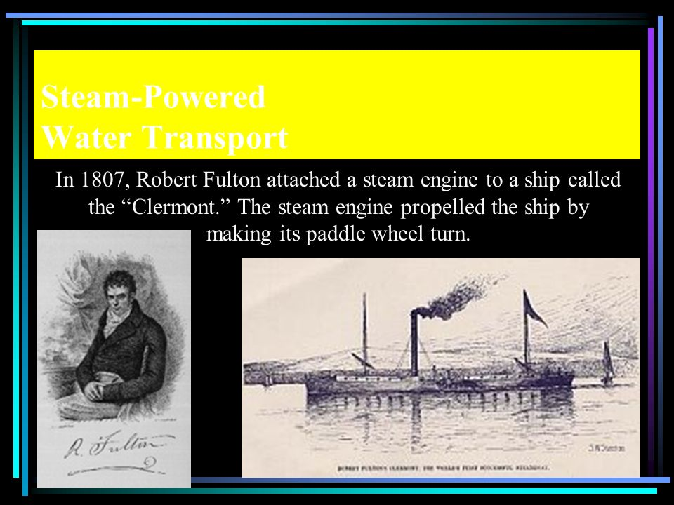 Steam-Powered Water Transport