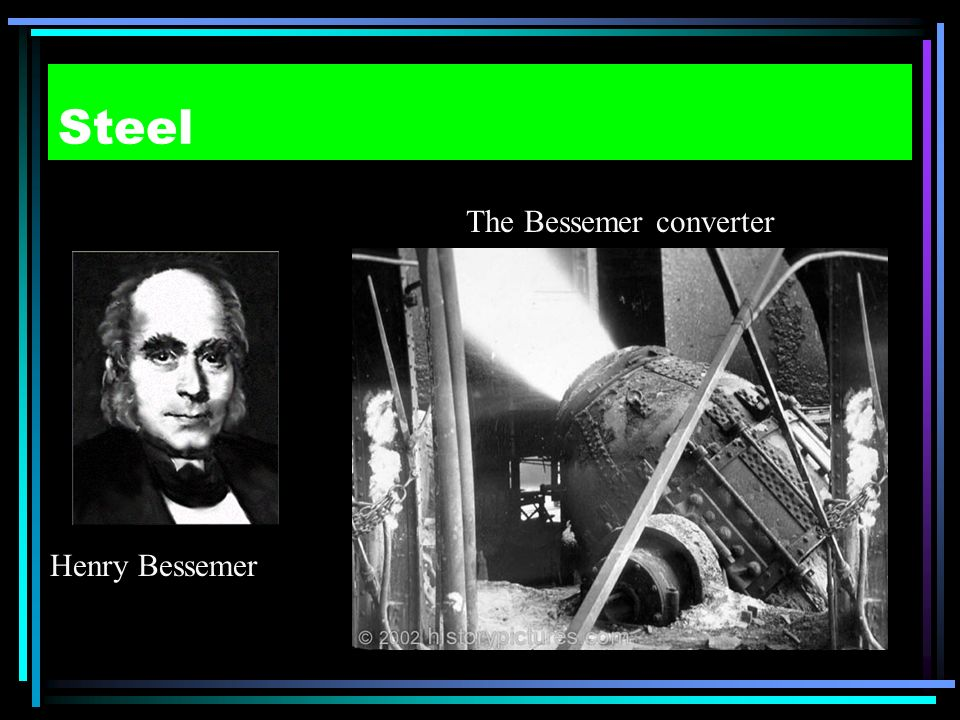 The Bessemer converter