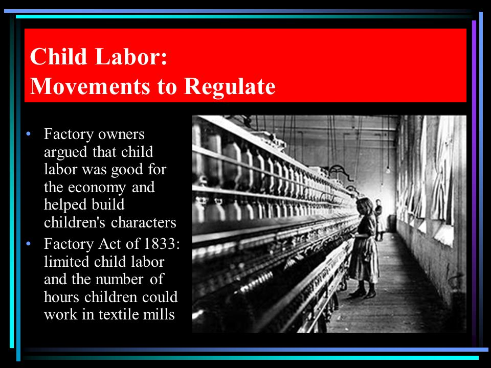 Child Labor: Movements to Regulate