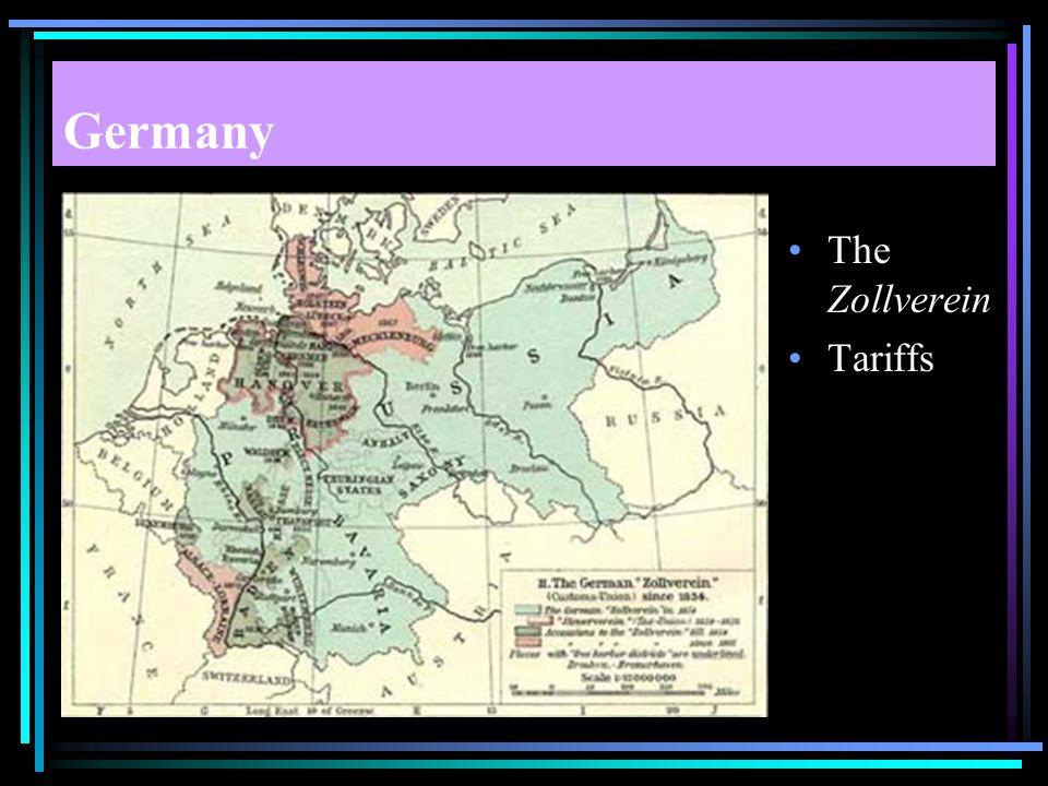 Germany The Zollverein Tariffs