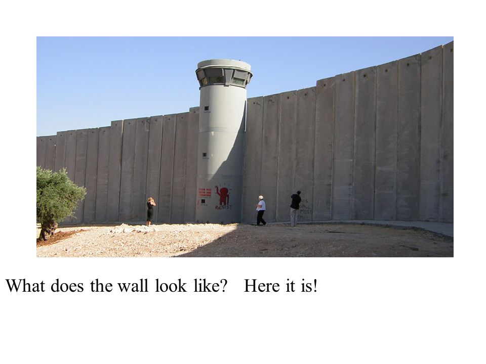 What does the wall look like Here it is!