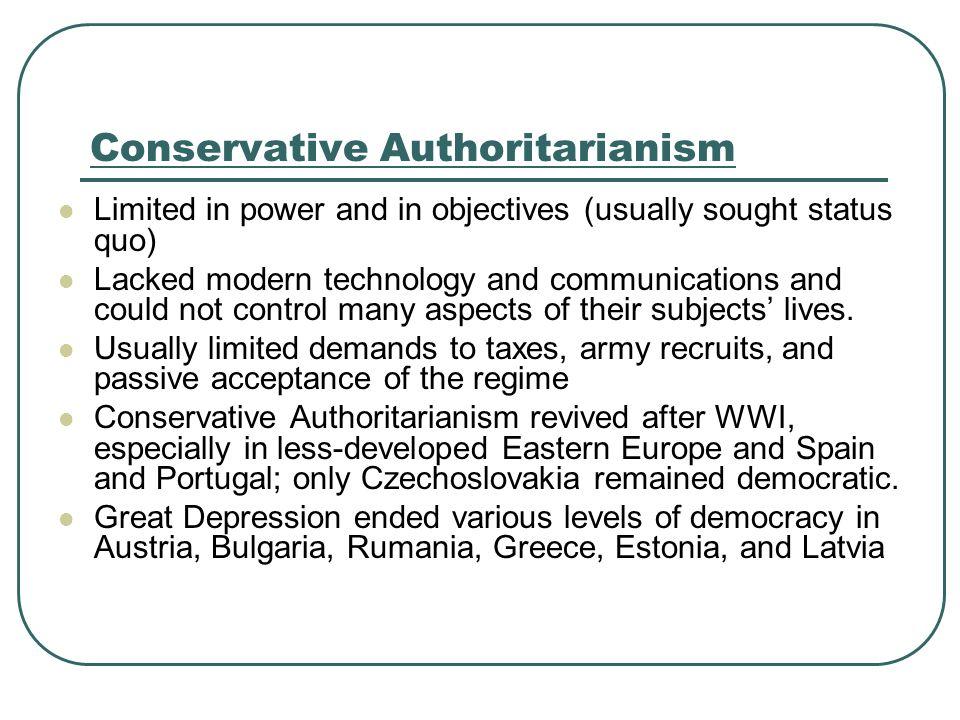 Conservative Authoritarianism